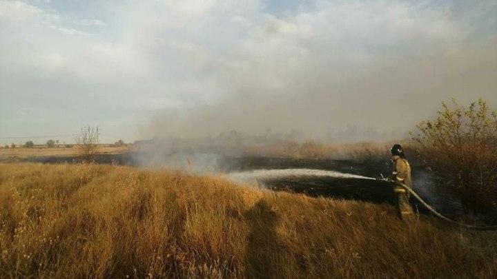 В Ростовской области объявлено штормовое предупреждение: угроза крупных пожаров сохраняется