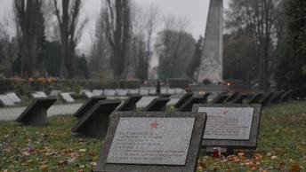 На памятник Благодарности Красной армии в Польше водрузили скабрезный плакат