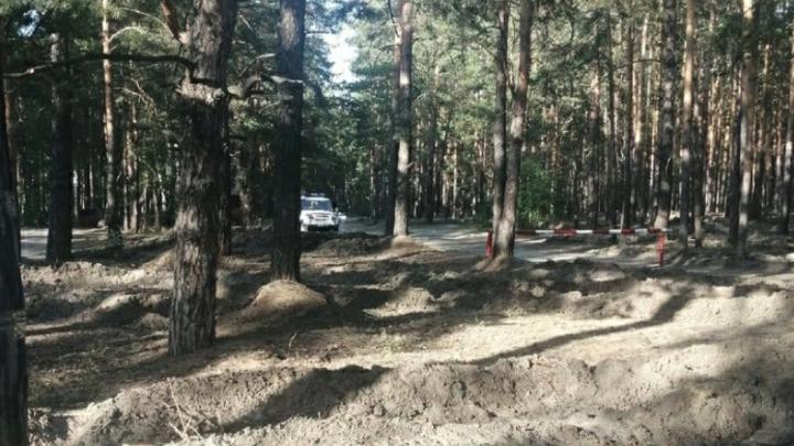 В Кургане выставили блокпост на дороге к Голубым озерам