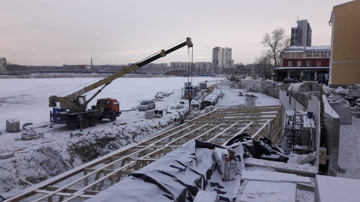 Со стройки набережной в Челябинске выгонят подрядчика за срыв сроков сдачи