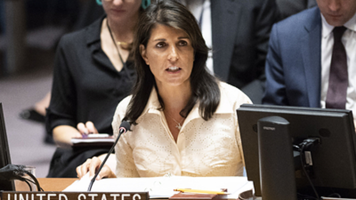 Жест бессилия США: Пушков оценил бегство Хейли с заседания Совбеза ООН