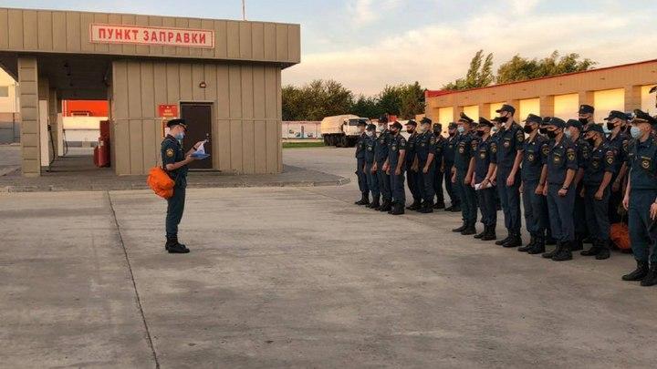 Третий эшелон донских спасателей отправился в Крым на ликвидацию последствий сильных ливней