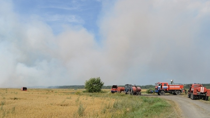 В Гомельской области торфяной пожар подбирается к населенным пунктам