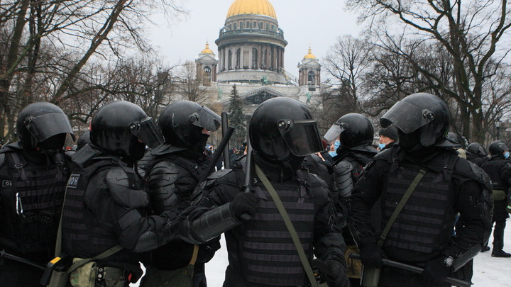 Доктор Мясников объяснил, почему полицейский ударил женщину на незаконном митинге в Петербурге