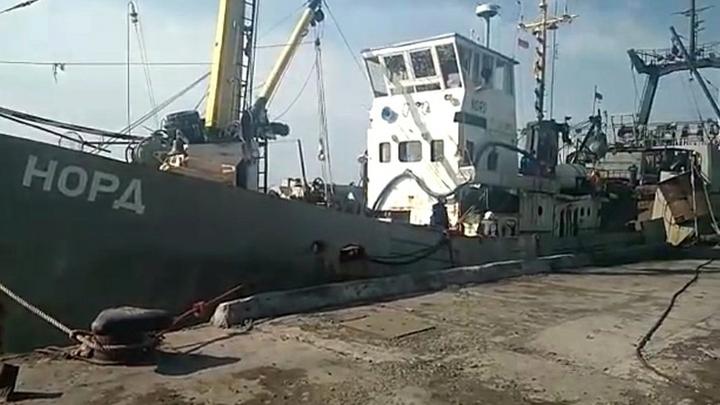 Путина призывают надавить на Порошенко по поводу задержанного корабля «Норд»