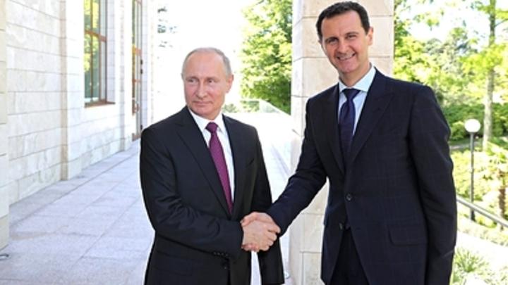 Асад прибыл к Путину с необъявленным визитом и заговорил по-русски