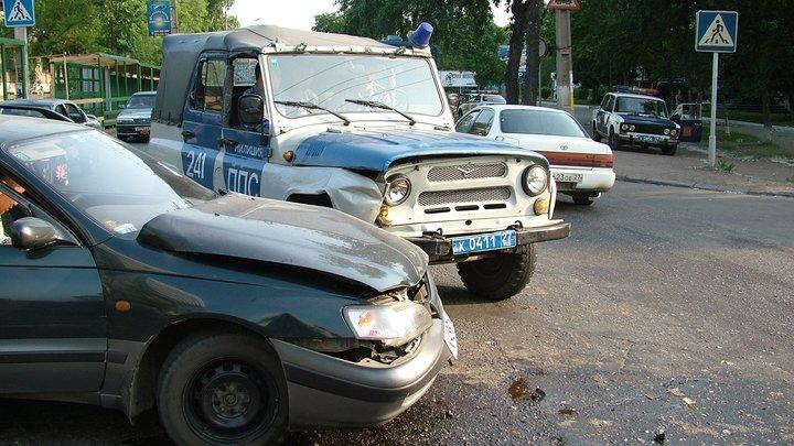 Наркокурьер устроил ДТП с полицейским автомобилем в Подмосковье