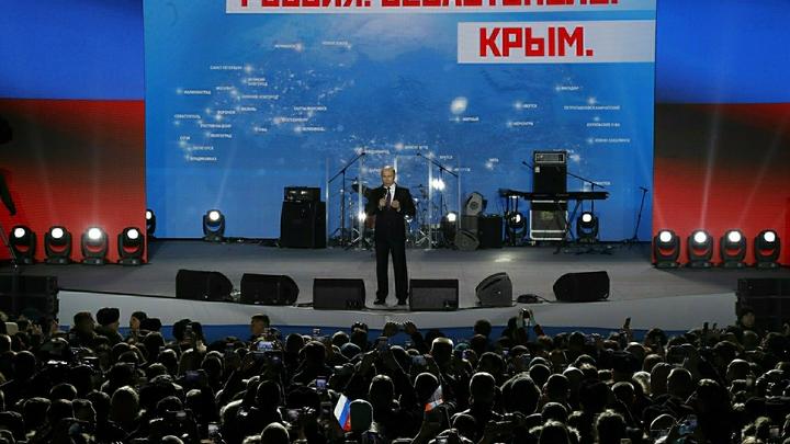 Владимир Путин после голосования ограничился одной фразой