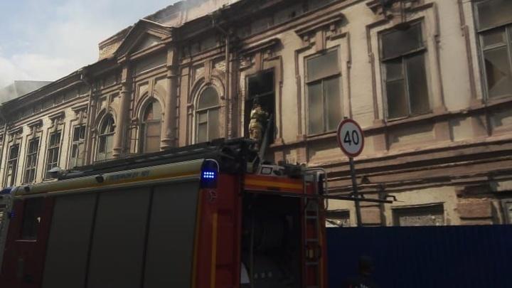 В центре Ростова-на-Дону вновь горит историческое здание газеты Приазовский край