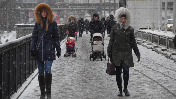 Мощный снегопад парализовал десятки рейсов в аэропортах Москвы