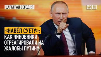 «Навёл суету»: как чиновники отреагировали на жалобы Путину