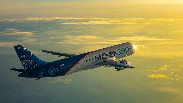 В воздух поднялся третий российский самолет МС-21-300 - видео