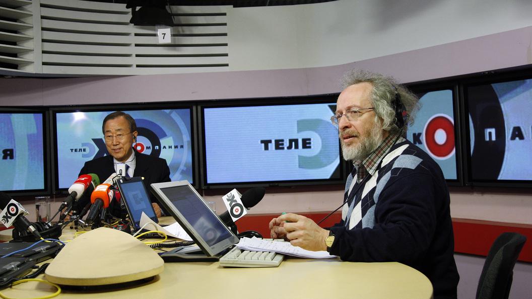 Телевизионный ведущий  Киселёв порекомендовал  главреду «Эхо Москвы» обратиться кпсихиатру