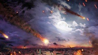 Разноцветный болид прорезал небо над Екатеринбургом