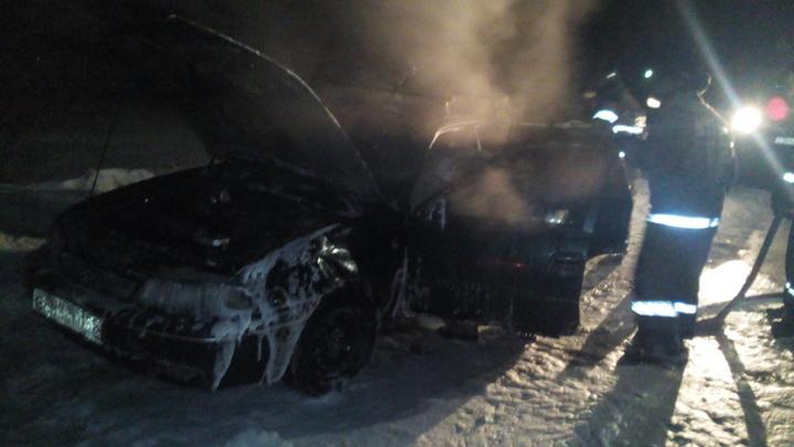 В Гороховецком районе в ночь на 7 марта сгорел автомобиль