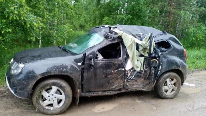Пассажирка внедорожника «Рено» погибла в ДТП под Новосибирском