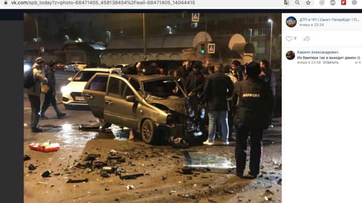 Видео: в жестком ДТП на Ветеранов пострадал младенец и четверо взрослых