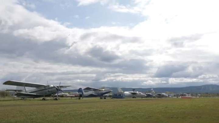 В Кузбассе упал самолет