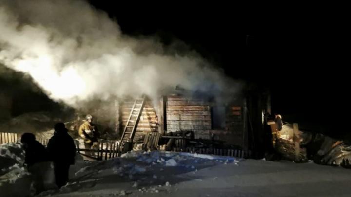 В Новосибирской области при пожаре в частном доме погибли двое детей и их мать