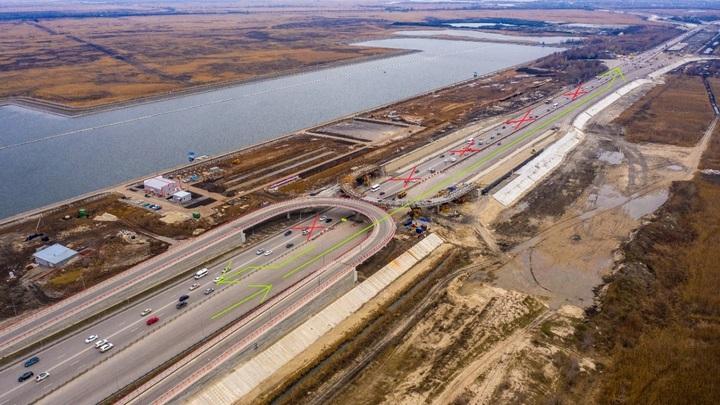 На южном подъезде к Ростову-на-Дону изменится схема движения