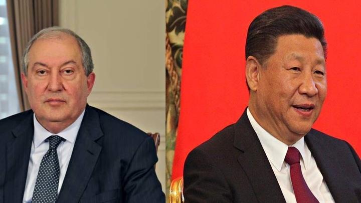 Президент Армении поздравил лидера КНР с юбилеем партии