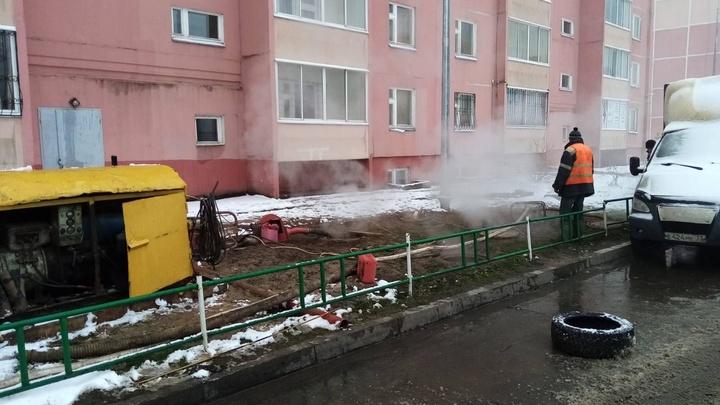 В Иванове без тепла остались 23 многоквартирных дома, два детсада и школа в микрорайоне «Московский»