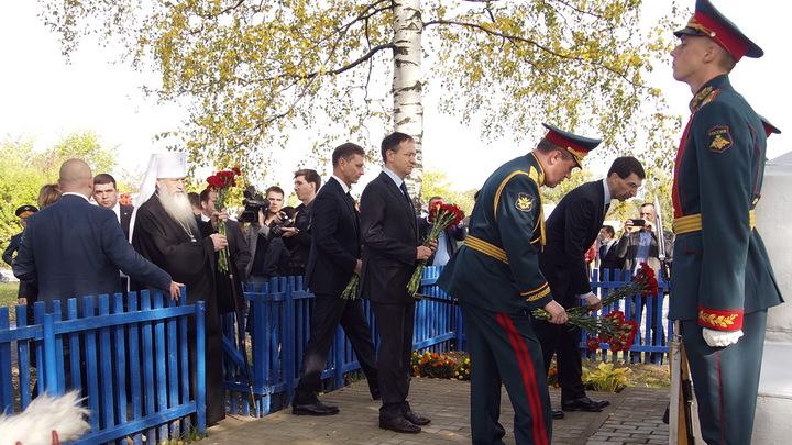 На открытие памятника Суворову во Владимирскую область приехали помощник Президента РФ и гостья царс