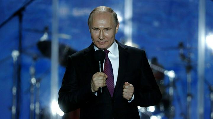 Путин многократно повторил спасибо в своем обращении избирателям