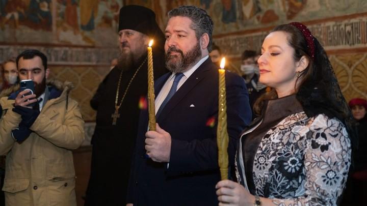 В Костроме состоялась помолвка Великого Князя Георгия Михайловича с его невестой Викторией Беттарини
