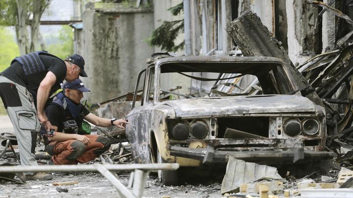 Украинское наступление в Дебальцево
