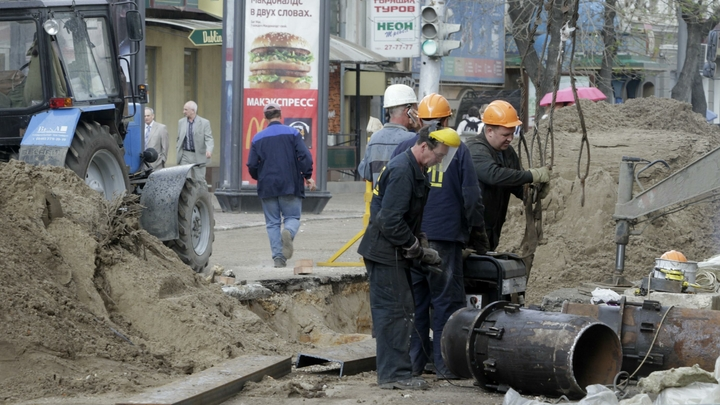 В Краснодаре 60 тысяч человек замерзают из-за аварии на теплотрассе