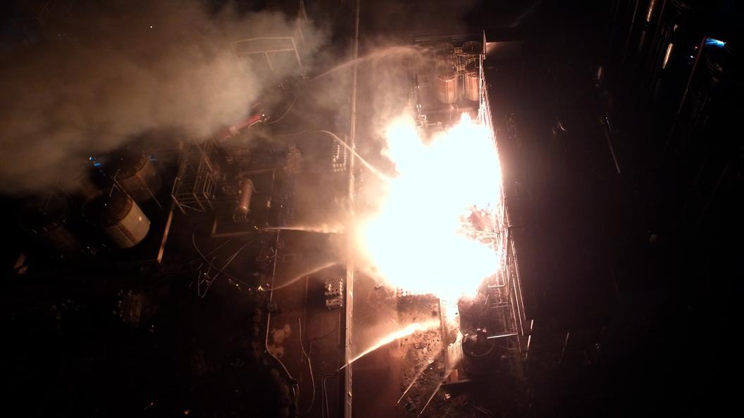 Взрыв ипожар нахимзаводе произошли около японской горы Фудзи