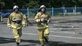 Пожар на 700 квадратов: В Балашихе вспыхнул строительный рынок