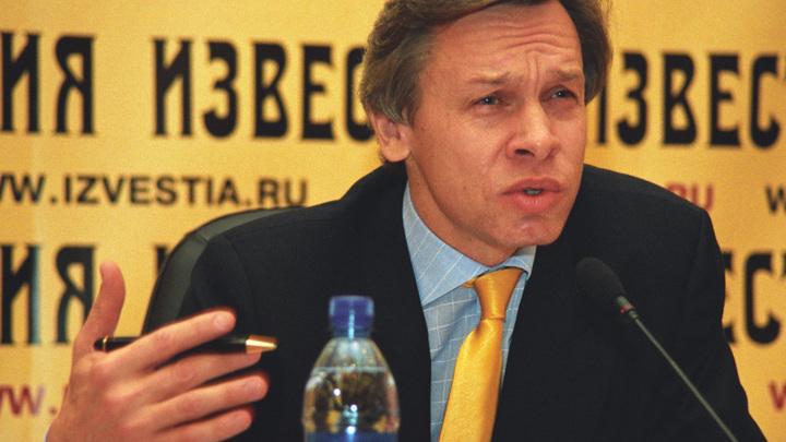 Пушков об оговорке Порошенко: В России так не ошибаются