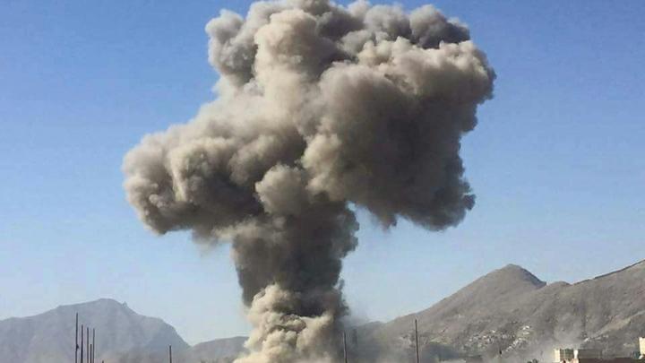 Опубликовано видео уничтожения бункера боевиков в Сирии российской авиабомбой