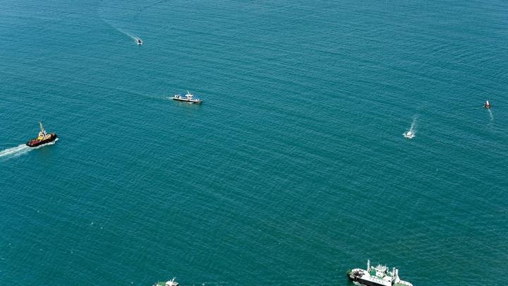 Ржавые украинские корабли в Крыму показали на видео