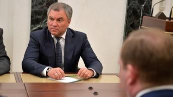 Володин: Россия должна реагировать на санкции открытием новых производств и рынков