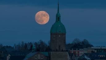 Кровавое суперлуние и полное лунное затмение- прямая трансляция