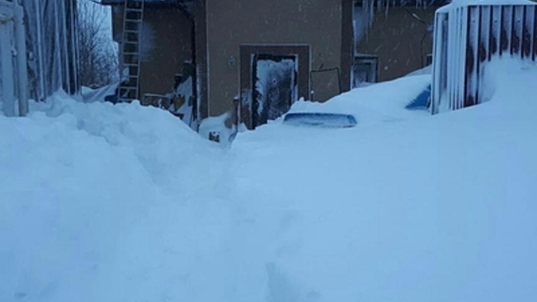 Под Мурманском мать с сыном прибило упавшим скрыши снегом