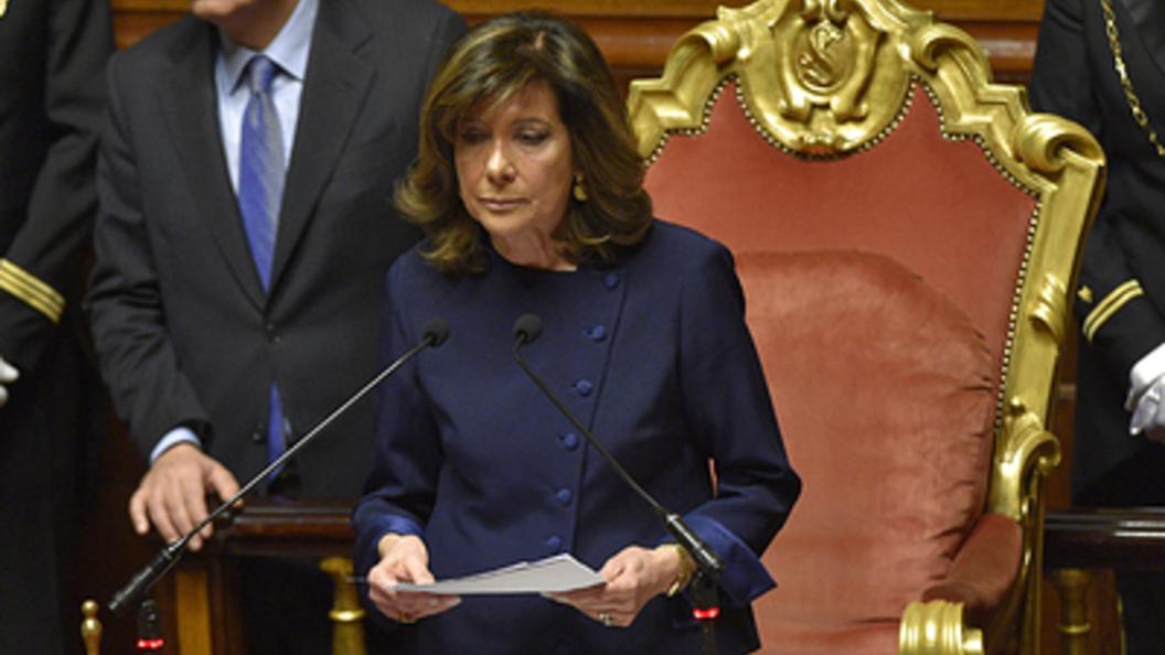 Сенат Италии впервый раз возглавила женщина
