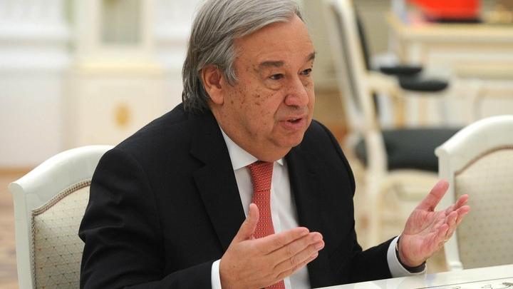 Генсек ООН выступил с беззубым заявлением по поводу атаки на Сирию