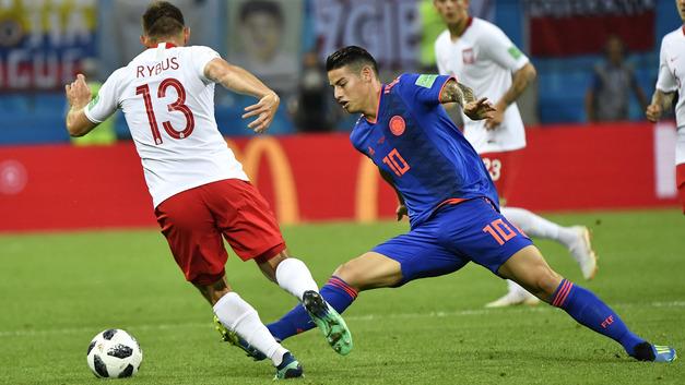 Ерри Мина вывел колумбийцев вперёд в матче с поляками