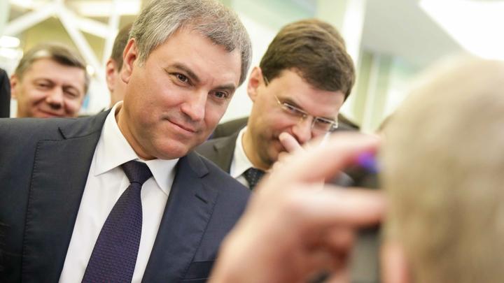 Володин обсудит с конгрессменами проблемы России и США