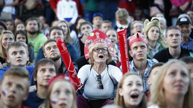 Репортаж о встрече сборной России с фанатами на Воробьёвых горах