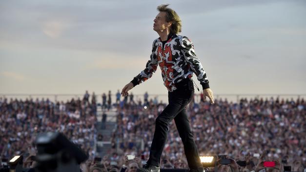 Лидер The Rolling Stones проигнорировал полупустые трибуны на матче Франция - Бельгия