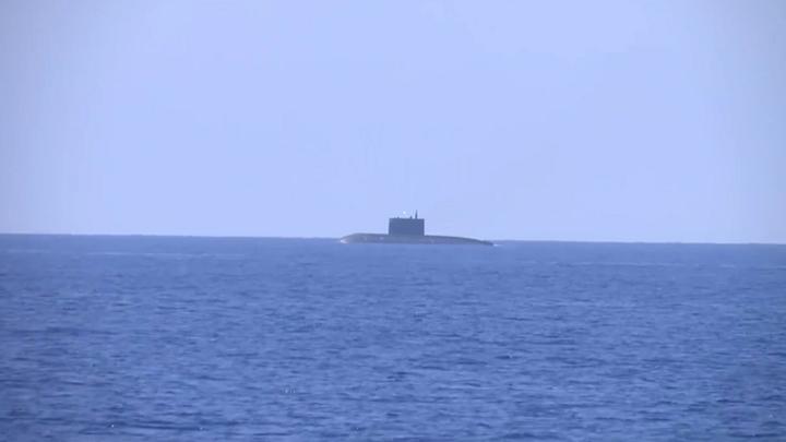 Атомная подлодка «Томск» накрыла «врага» крылатой ракетой - видео