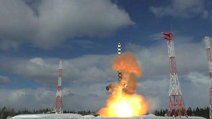 Минобороны рассказало об испытаниях новейшей ракеты «Сармат»