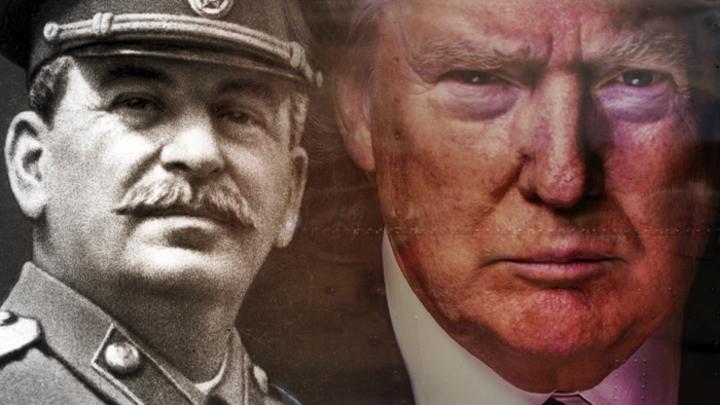 Трамп превратился в карикатурного Сталина