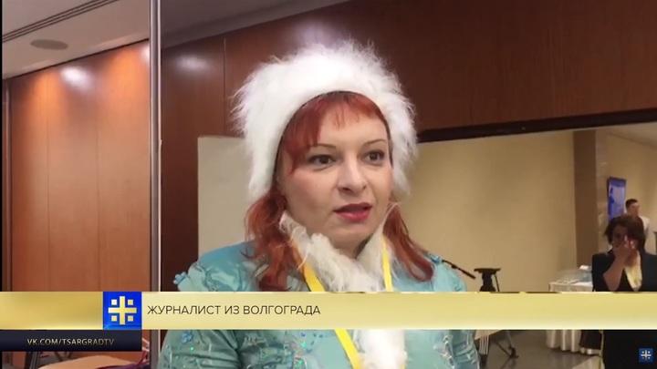 Снегурочка хочет задать Путину вопрос о ритуальных услугах. Видео