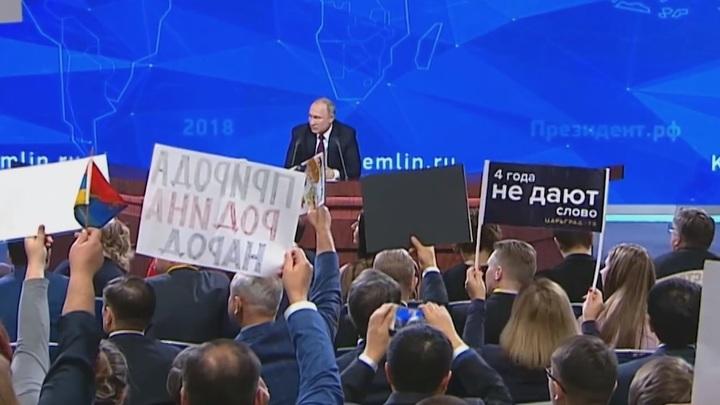 Путин - корреспонденту Царьграда: 4 года не дают слова? Да что ж такое! Это Песков виноват!